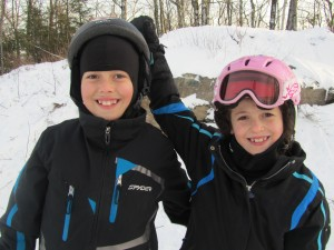 Our Kids Skiing at Butternut