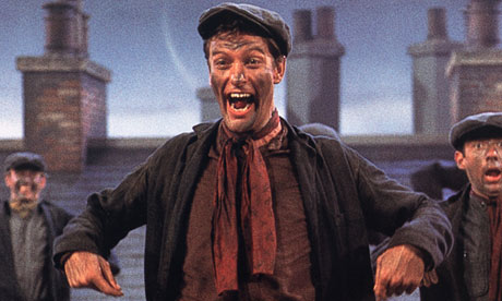 Dick van Dyke as Bert the chimney sweep in Mary Poppins
